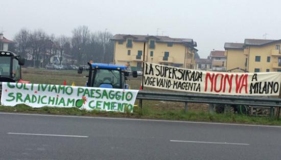 Manifestazione per dire no alla Vigevano - Malpensa